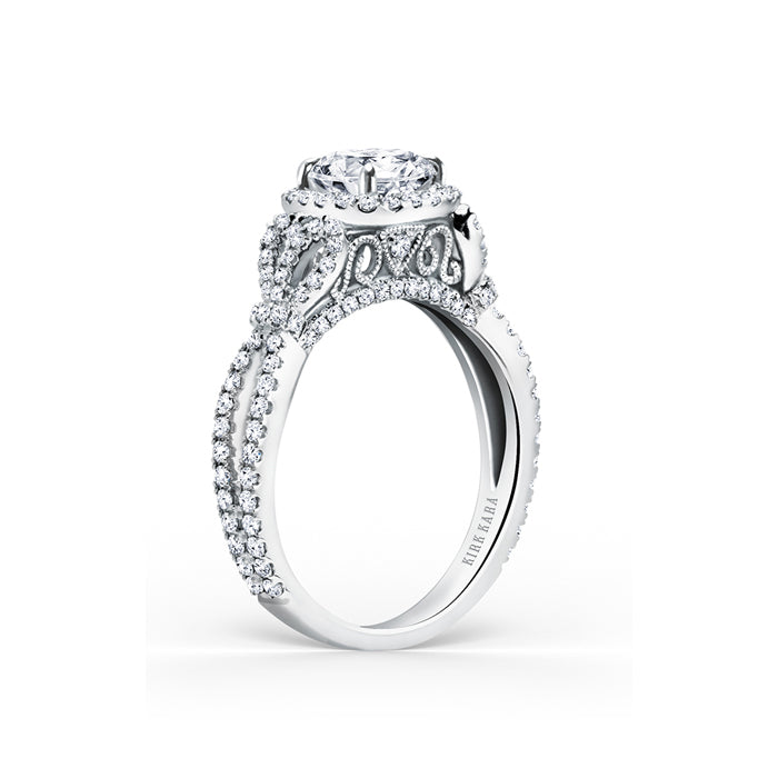 Kirk Kara Pirouetta - 18k white gold 0.70ctw Diamond Engagement Ring, K174C65R