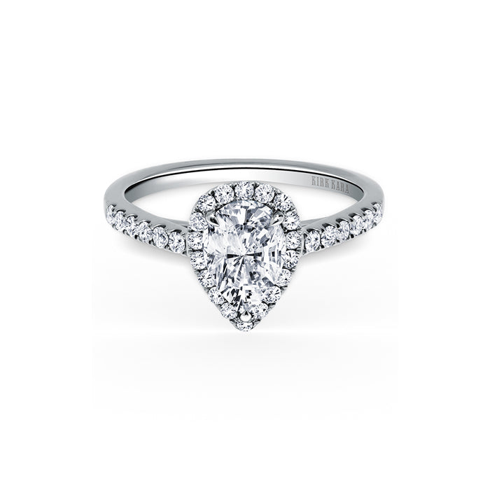 Kirk Kara Carmella - 18k white gold 0.35ctw Diamond Engagement Ring, K184P85X55