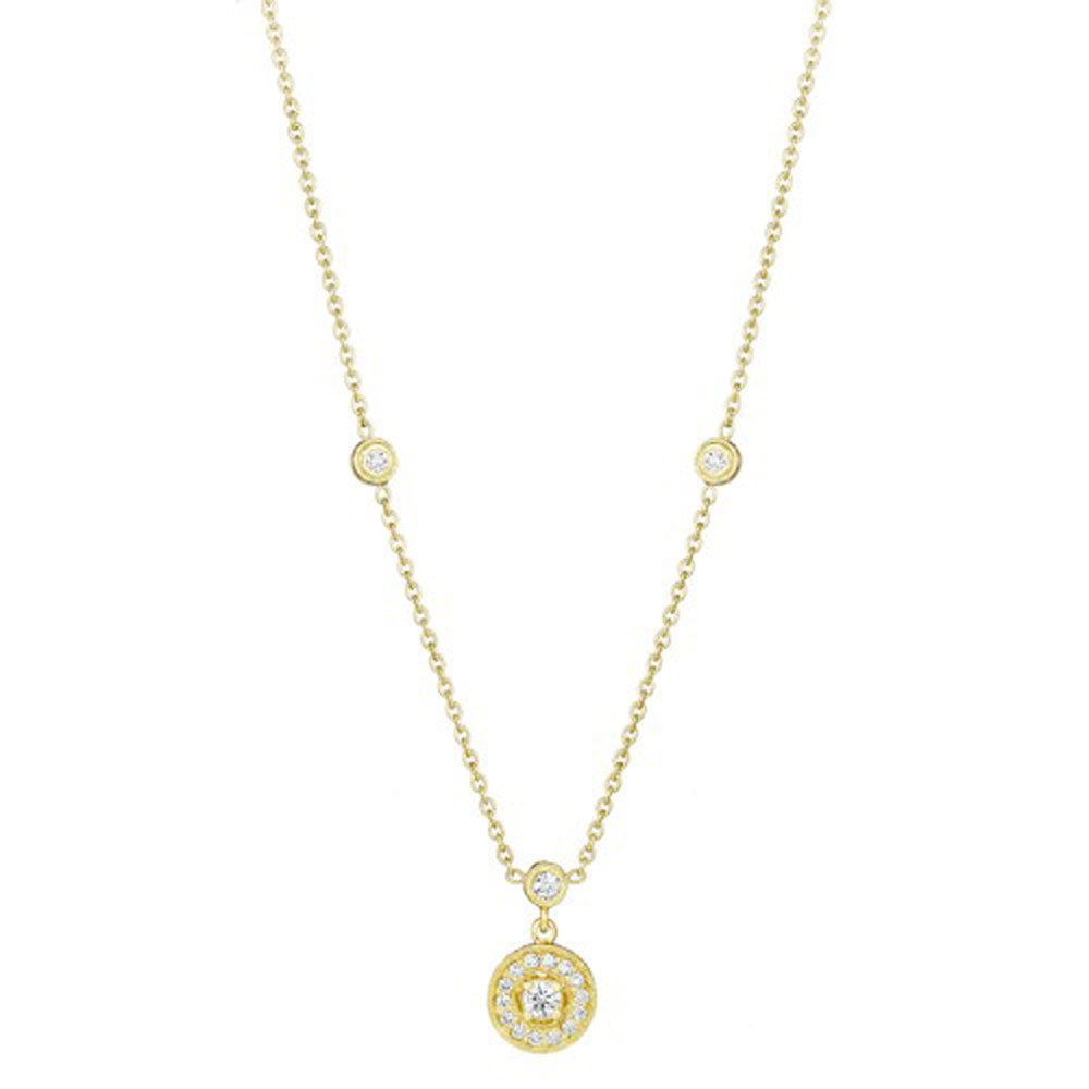 Penny Preville - 18k YG 0.47ctw Diamond Necklace, N1006G