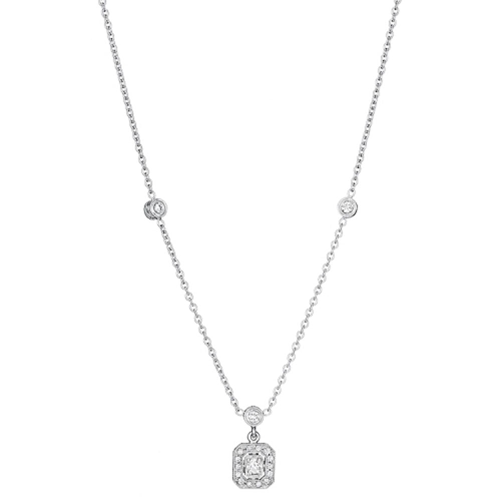 Penny Preville - 18K WG 0.47ctw Diamond Classic Necklace, N1006W