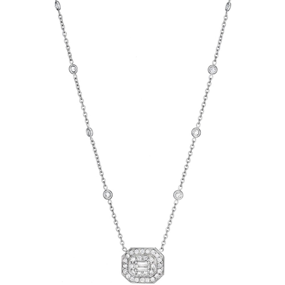 Penny Preville - 18K RG 1.50ctw Diamond Necklace, N5031W