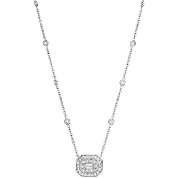 Penny Preville - 18K WG 1.50ctw Diamond Necklace, N5031W