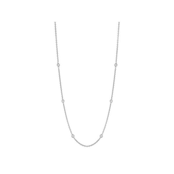 Penny Preville - 18K WG 0.30ctw Diamond Classic Necklace, N7085W