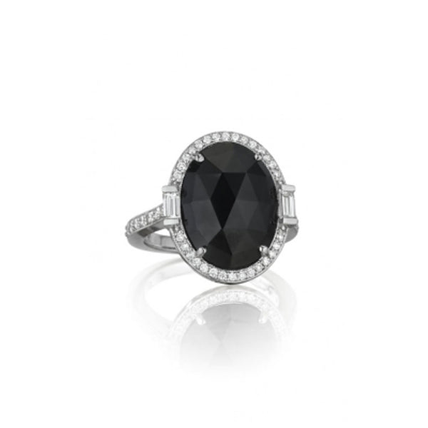 Penny Preville - 18K WG Diamond & Black Spinel Ring, R4677W-BS
