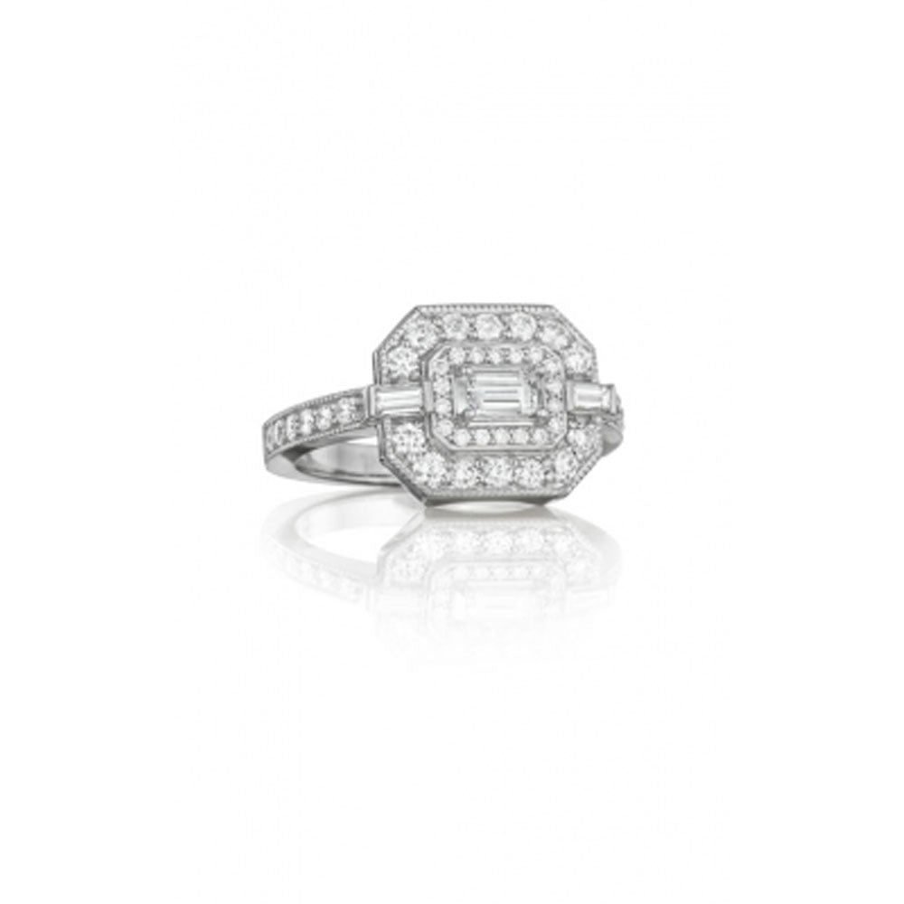 Penny Preville - 18K WG 1.01ctw Diamond Art Deco Ring R5126W
