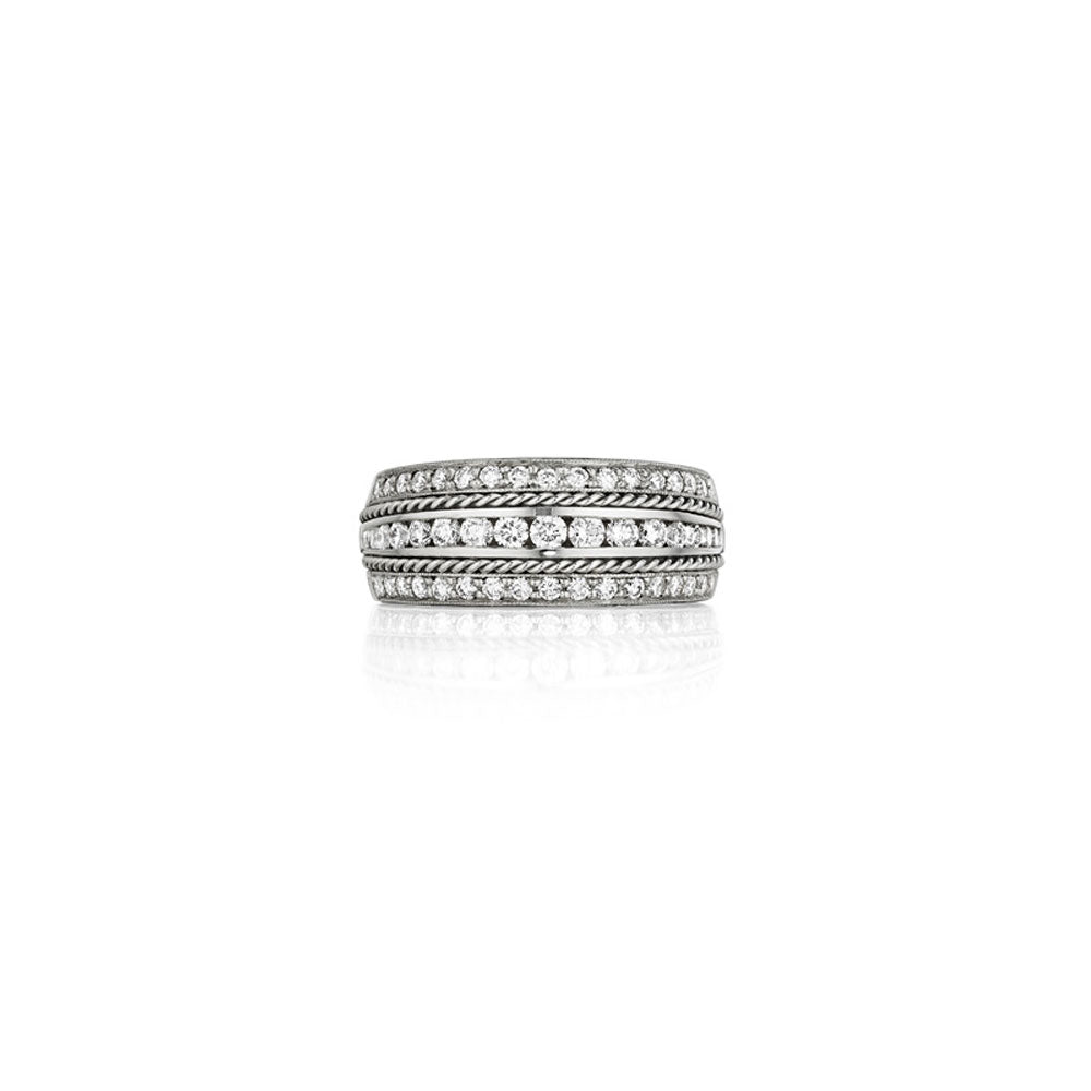 Penny Preville - 18K WG 0.84ctw Diamond Classic Wedding Band, R7139W