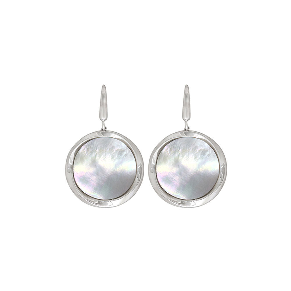 Bailey's Fashion - SS Mother of Pearl Earrings, SE0313SMW