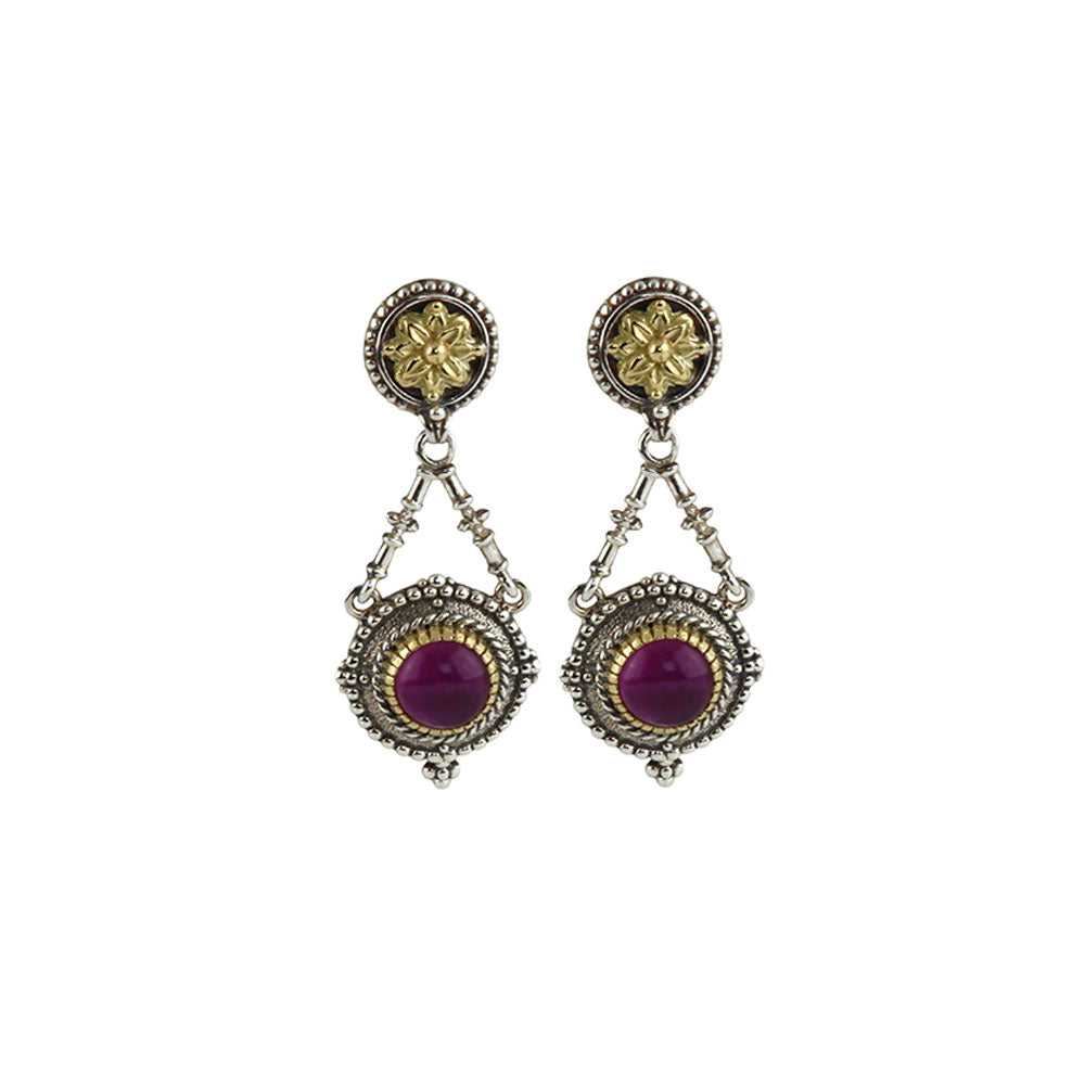 Konstantino - SS/18k YG Amethyst Earrings, SKKJ561-361
