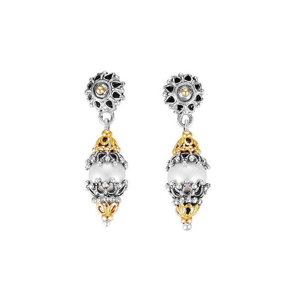 Konstantino - SS/18k YG Cultured Pearl Earrings, SKKJ88-122