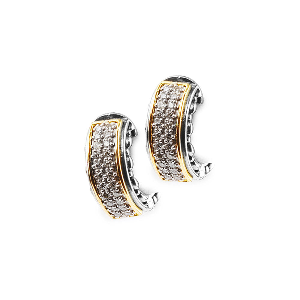 Konstantino - SS/18k YG 0.24ctw Diamond Earrings, SKMK2962-109