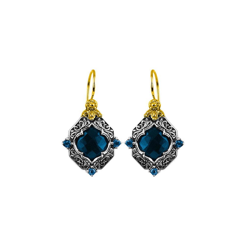 Konstantino - SS /18k YG London Blue Topaz Earrings, SKMK3038-298