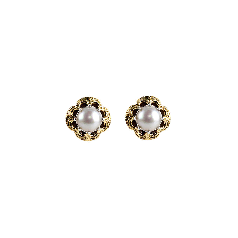 Konstantino - SS/18k YG Cultured Pearl Earrings, SKMK3081-122