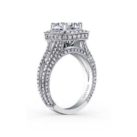 Kirk Kara Carmella - 18k white gold 1.34, 0.24ctw Diamond Engagement Ring, SS6933TC-R