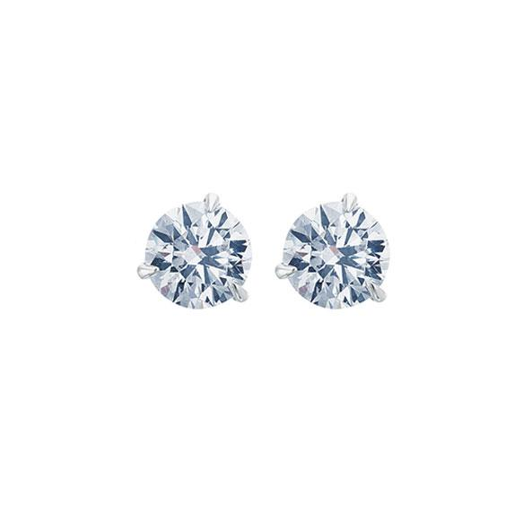 14K WG 1.00CTW GH SI DIAMOND MARTINI STUD EARRINGS