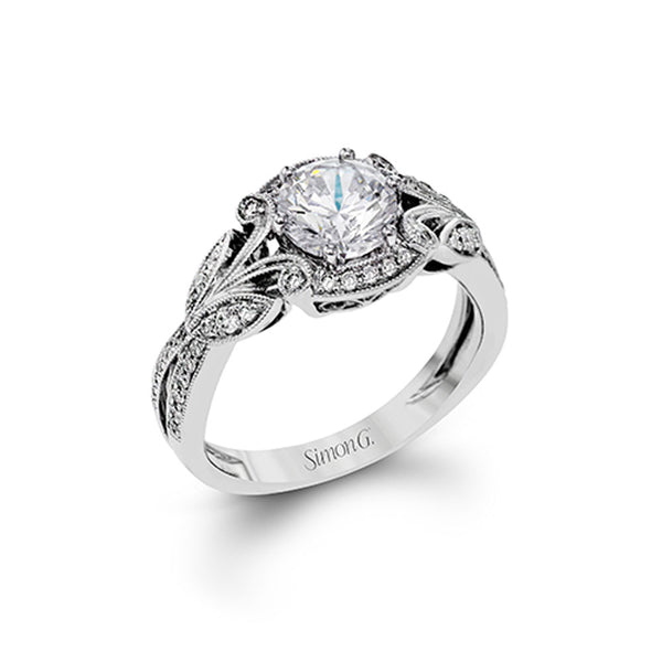 Simon G Garden - 18k white gold 0.28ctw Diamond Engagement Ring, TR629