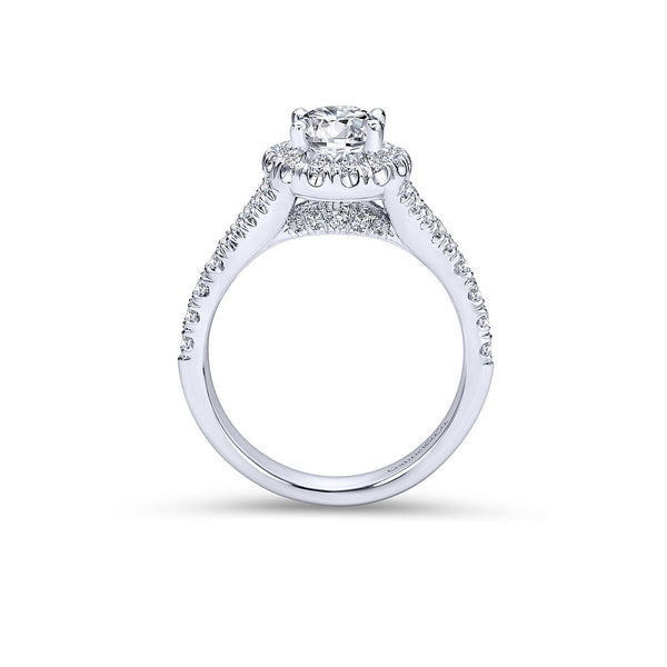 Kennedy Platinum Oval Halo Engagement Ring