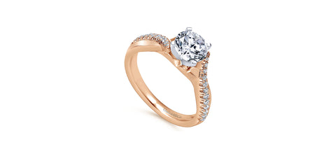 Scout 14k Rose Gold Round Twisted Engagement Ring