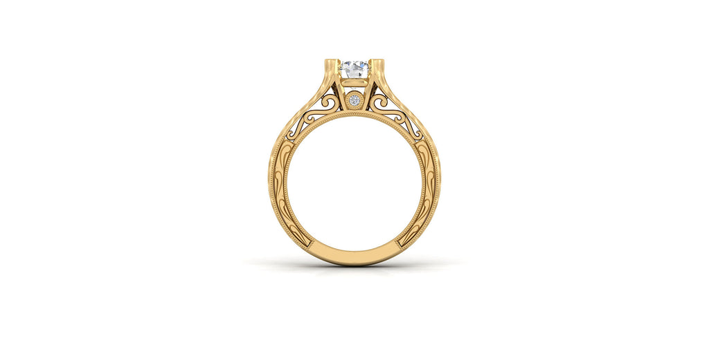 Kiera 14k Yellow Gold Round Solitaire Engagement Ring