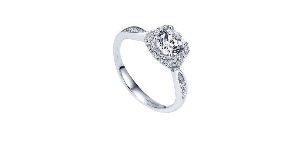 Platinum Round Halo Engagement Ring