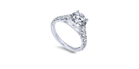 Taylor 14k White Gold Round Straight Engagement Ring
