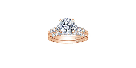 Darby 14k Rose Gold Round Straight Engagement Ring
