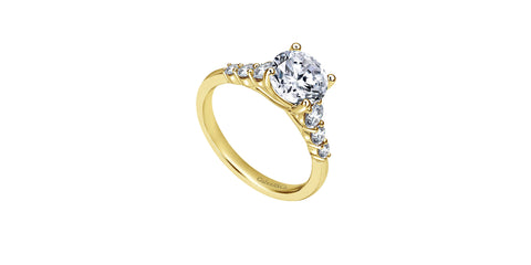 Darby 14k Yellow Gold Round Straight Engagement Ring