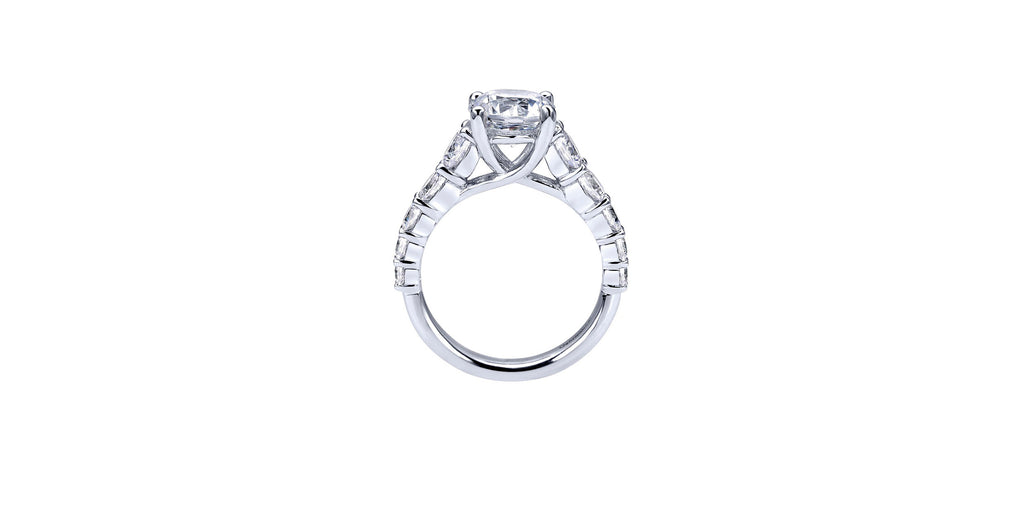 Reed Platinum Round Straight Engagement Ring