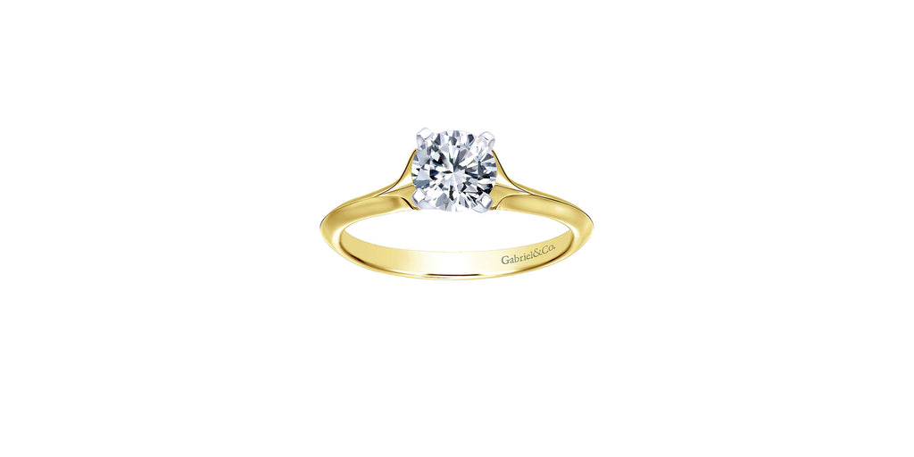 Ellis 14k Yellow Gold Round Solitaire Engagement Ring