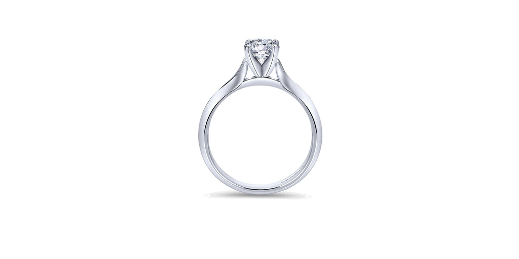 Ellis 14k White Gold Round Solitaire Engagement Ring