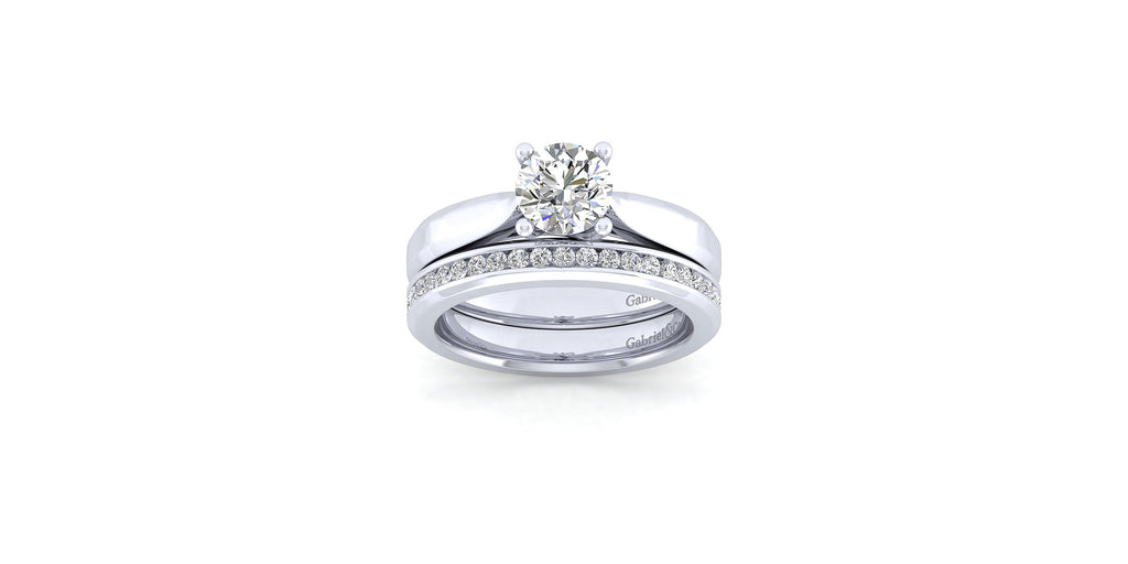Jamie 14k White Gold Round Solitaire Engagement Ring