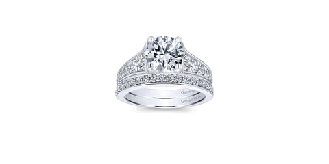 Cameron 14k White Gold Round Straight Engagement Ring