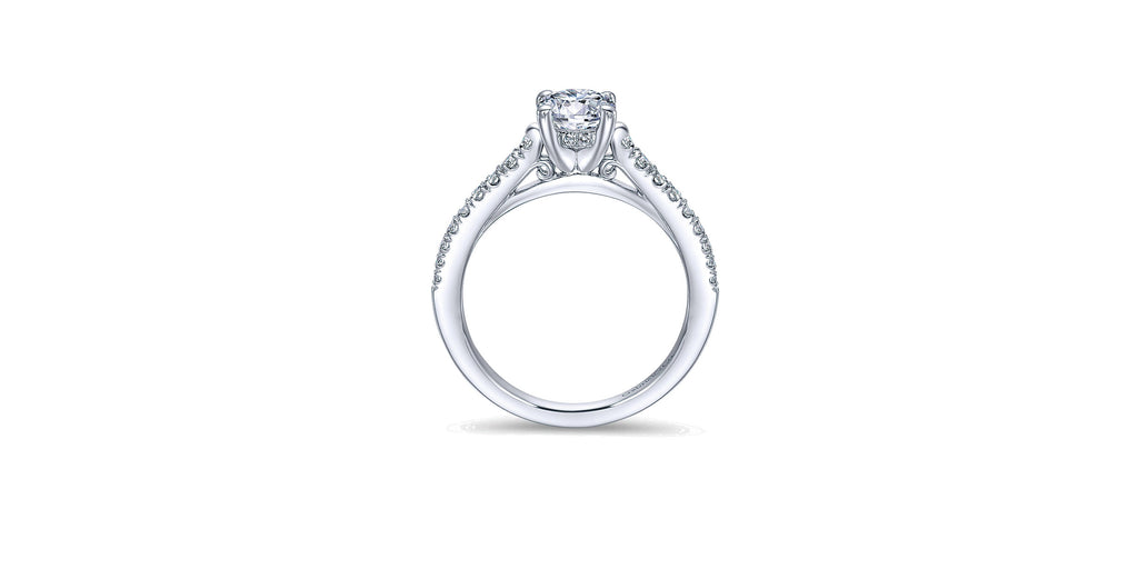 Piper 14k White Gold Round Straight Engagement Ring