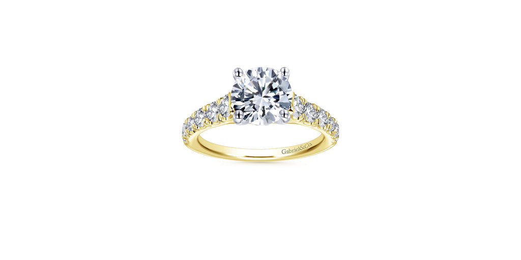 Piper 14k Yellow Gold Round Straight Engagement Ring