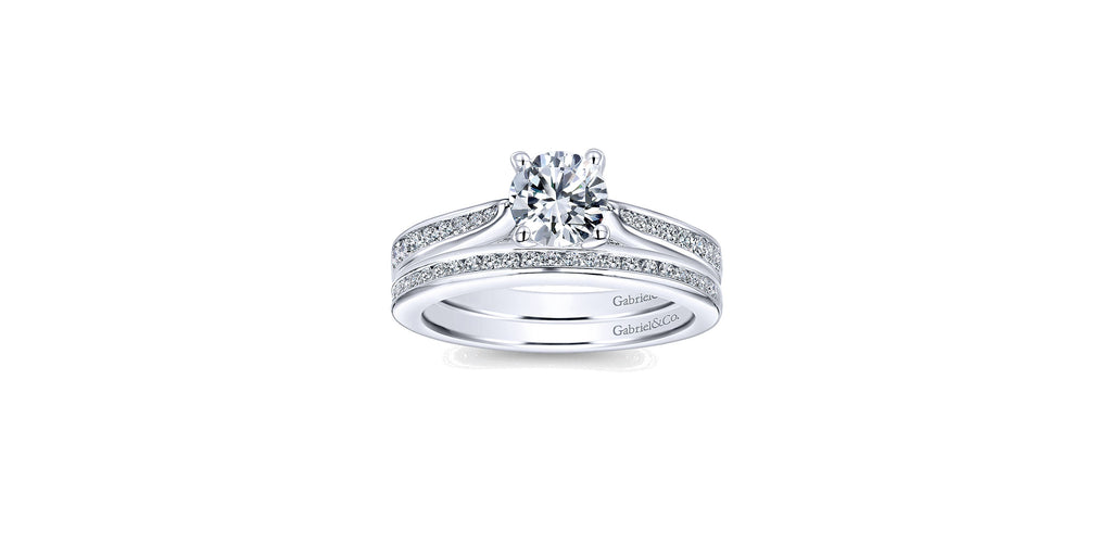 Hannah 14k White Gold Round Straight Engagement Ring