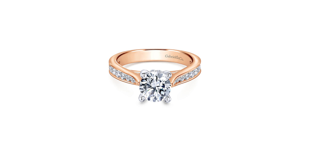 Hannah 14k Rose Gold Round Straight Engagement Ring