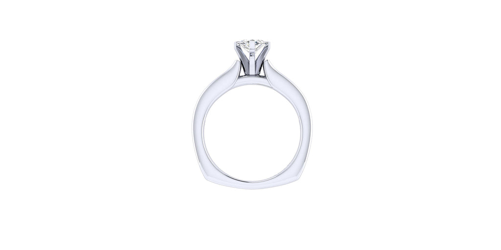 Anderson 14k White Gold Marquise Shape Straight Engagement Ring