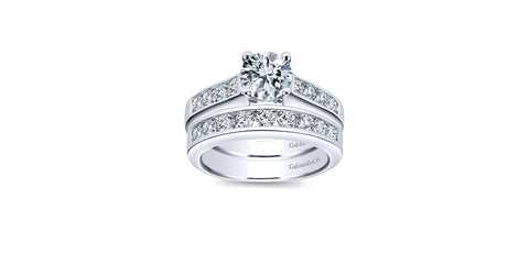 Anderson 14k White Gold Round Straight Engagement Ring