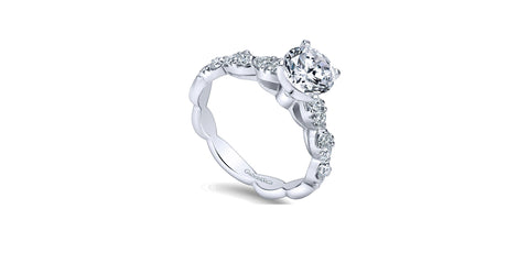 Rowan 14k White Gold Round Straight Engagement Ring