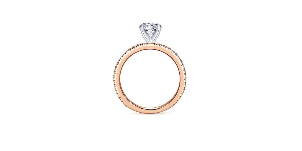 Shane 14k Rose Gold Round Straight Engagement Ring