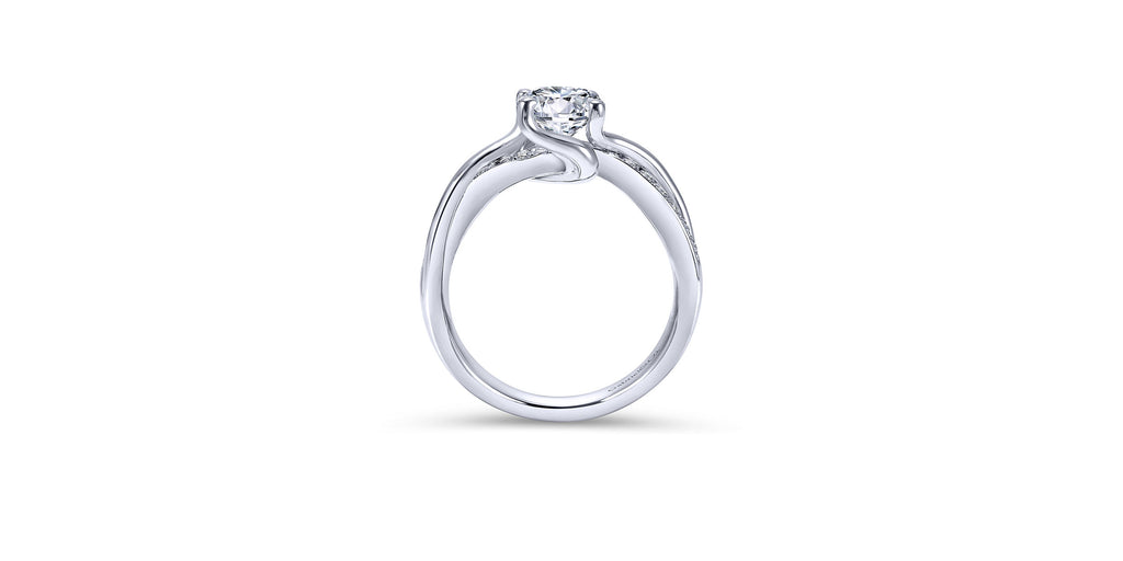 Aleesa Platinum Round Twisted Engagement Ring