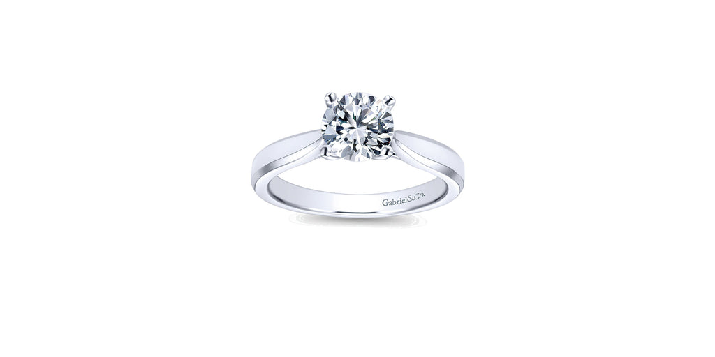 Marnie 14k White Gold Round Solitaire Engagement Ring