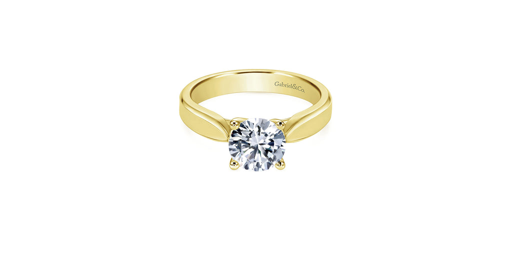 Jamie 14k Yellow Gold Round Solitaire Engagement Ring