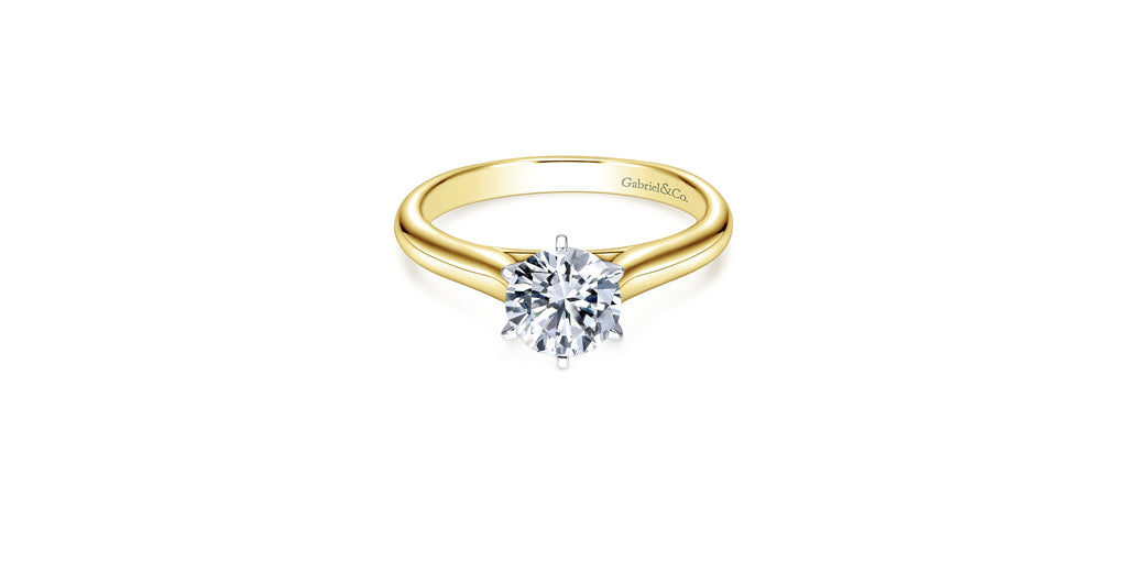 Allie 14k Yellow Gold Round Solitaire Engagement Ring