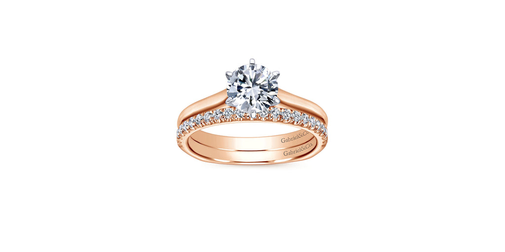 Allie 14k Rose Gold Round Solitaire Engagement Ring