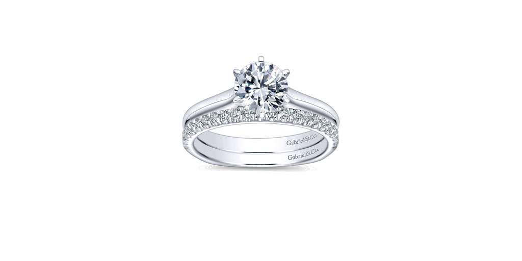 Allie 14k White Gold Round Solitaire Engagement Ring