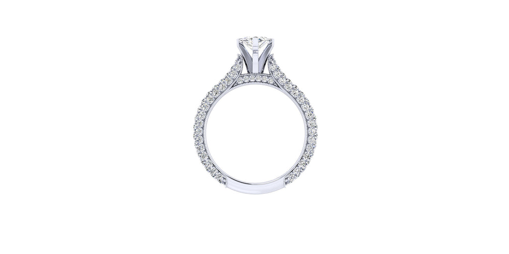 Kirsten 14k White Gold Marquise Shape Straight Engagement Ring