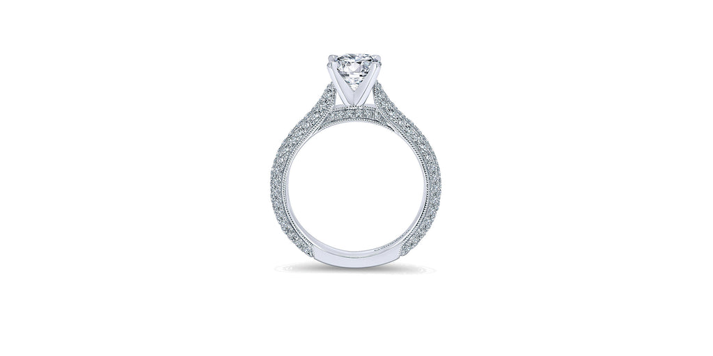 Kirsten 14k White Gold Round Straight Engagement Ring