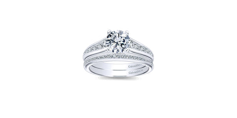 Nicola 14k White Gold Round Straight Engagement Ring