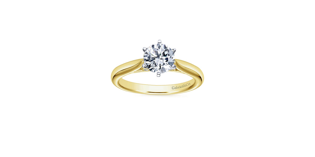 Cassie 14k Yellow Gold Round Solitaire Engagement Ring