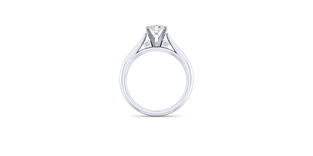 Cassie 14k White Gold Marquise Shape Solitaire Engagement Ring